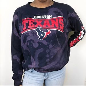 Houston Texans Football Custom Bleach Graphic Tee